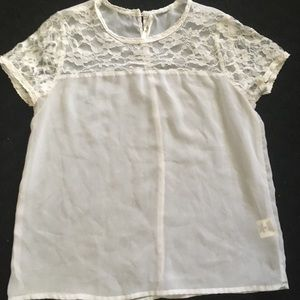 Truth NYC Top - white lace and mesh